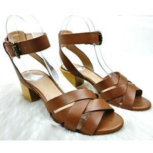 Madewell Lucy English Saddle Leather Sandals
